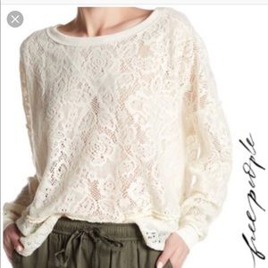 Free people lace floral not cold